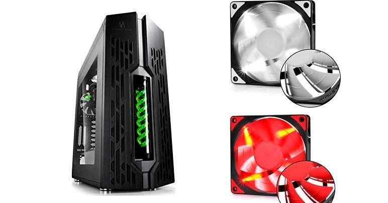 Photo of Sorteamos chasis Deepcool Genome II Green + ventiladores TF 120red +TF 120WH