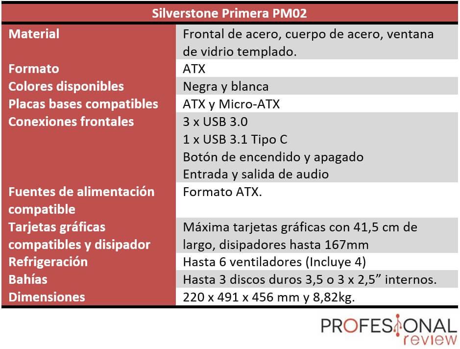 Silvertone Primera PM02 caracteriticas