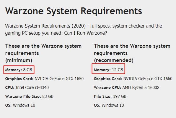 memoria RAM consumo videojuegos