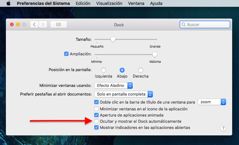 Cómo ocultar el Dock en tu Mac