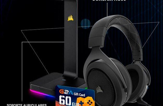 Photo of Sorteamos auriculares gamer Corsair HS60 + ST100 + tarjeta REGALO G2A