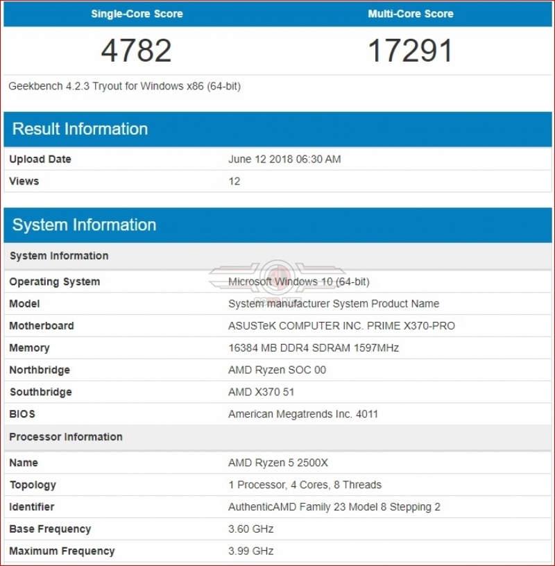AMD Ryzen 2300X y 2500X aparecen en Geekbench