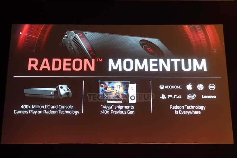 AMD dice que Vega supera en diez veces los envíos de Fiji