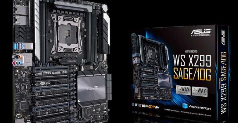 Photo of Asus WS X299 SAGE 10G, placa base con dos puertos 10 GbE