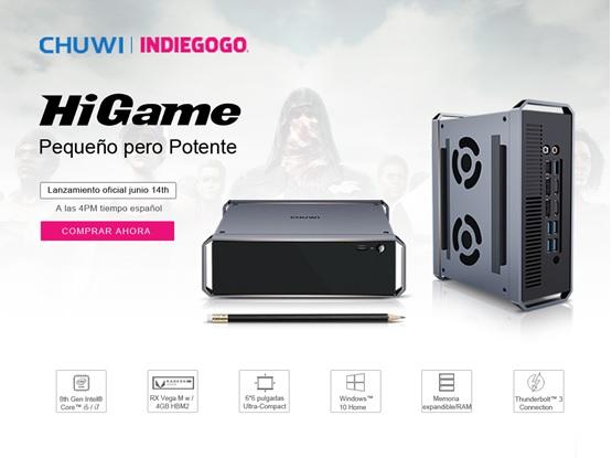 Chuwi HiGame vuelve a Indiegogo
