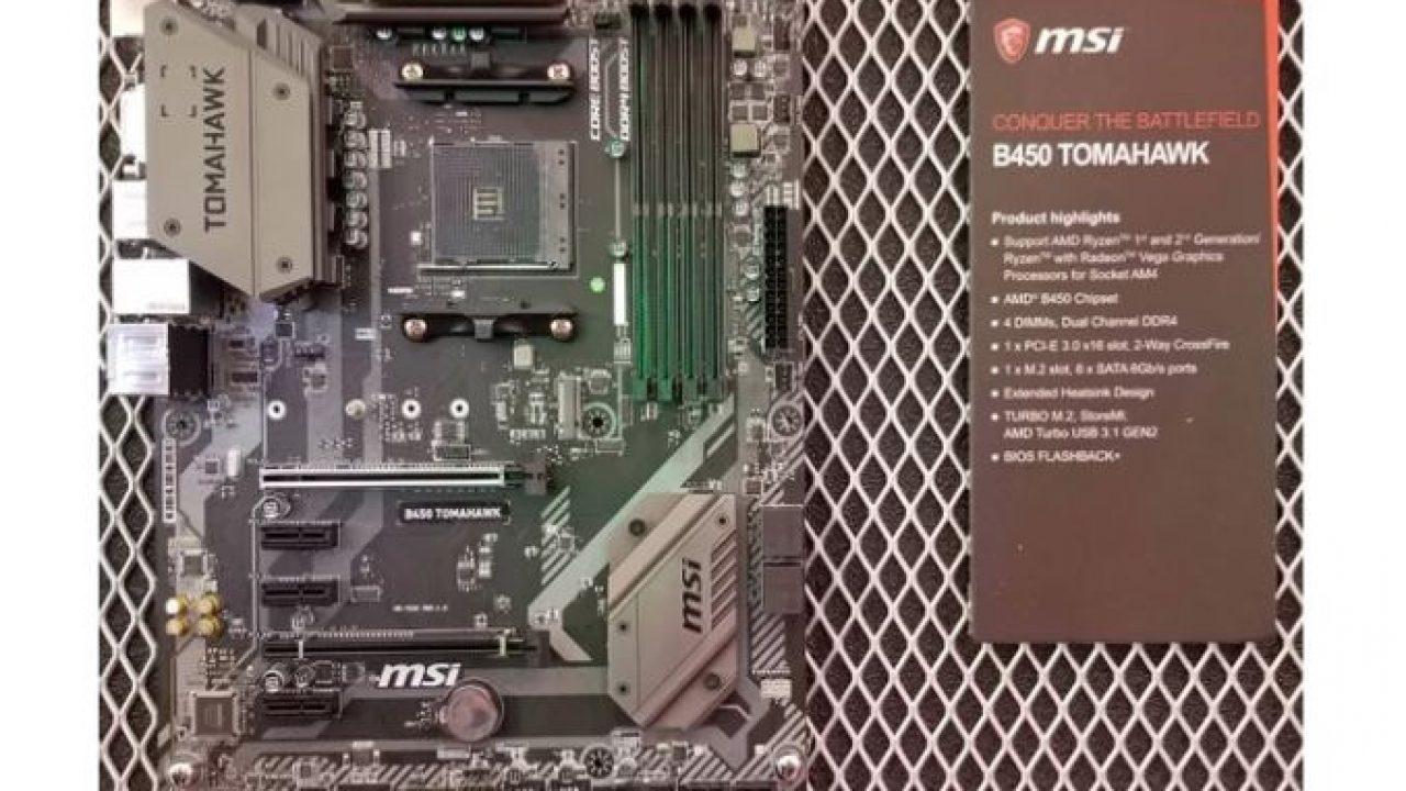 MSI B450 Tomahawk y MSI B450-A PRO con el chipset AMD B450