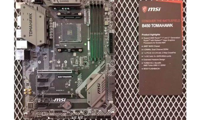 Photo of MSI B450 Tomahawk y MSI B450-A PRO con el chipset AMD B450