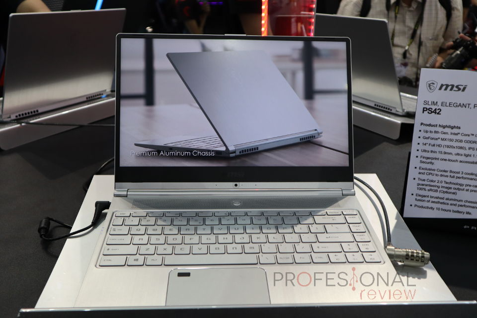 MSI PS42 es el ordenador portátil más compacto de la marca