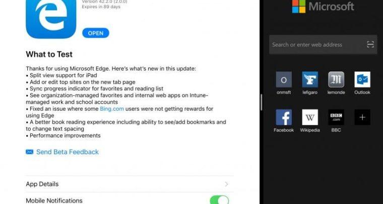 Photo of Microsoft Edge añade compatibilidad con la vista dividida del iPad