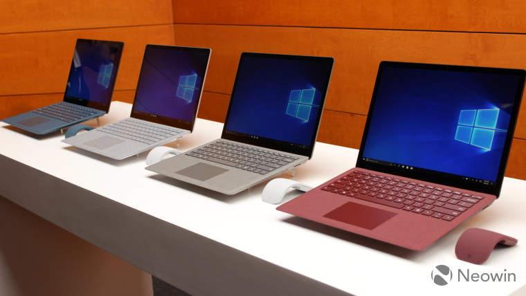Nuevo modelo de Surface Laptop con 8 GB por 999 dólares