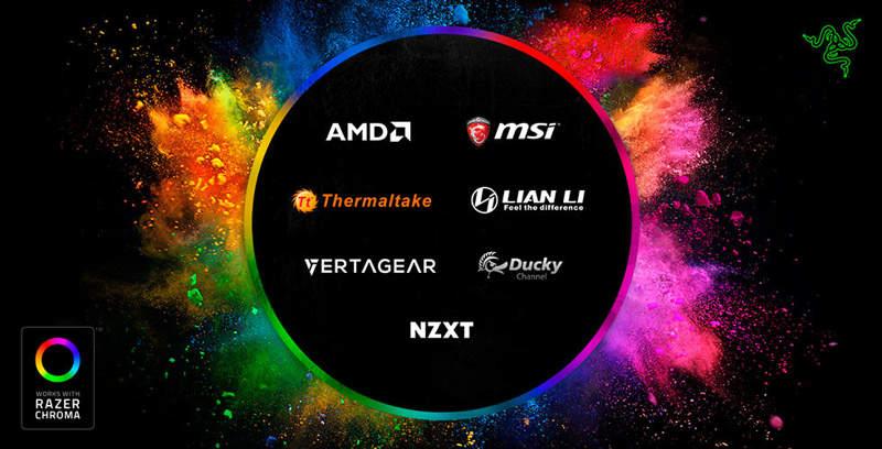 Razer Chroma estará disponible para los principales fabricantes