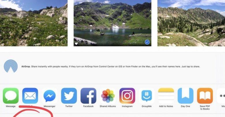 iOS 12 permite generar links para compartir imágenes de la app Fotos