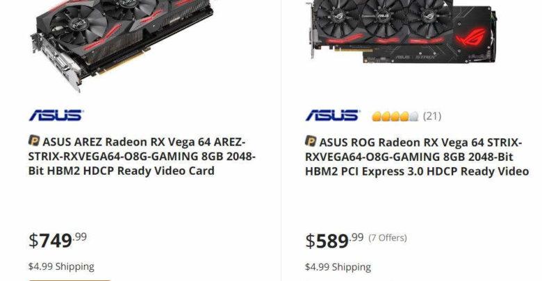 Photo of AREZ Strix Radeon RX Vega 64 listada por un precio superior a la variante Asus ROG