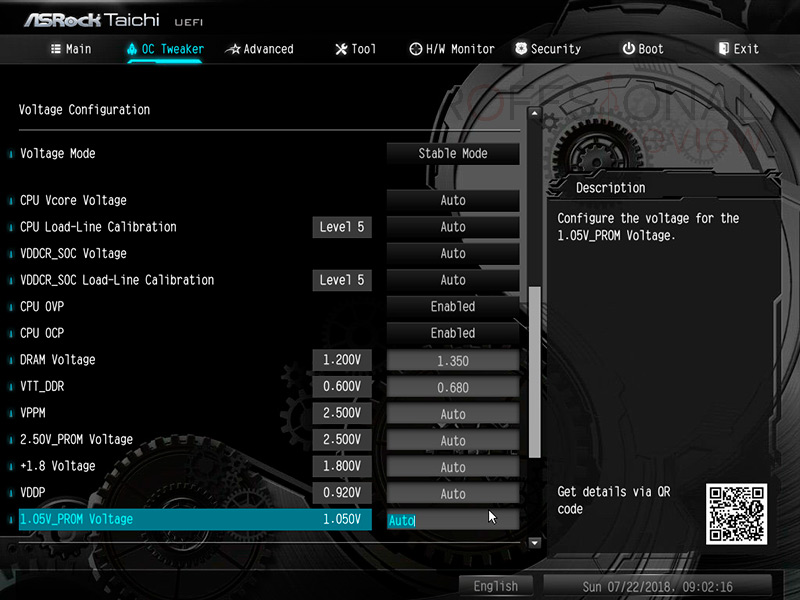 ASRock X470 Taichi BIOS