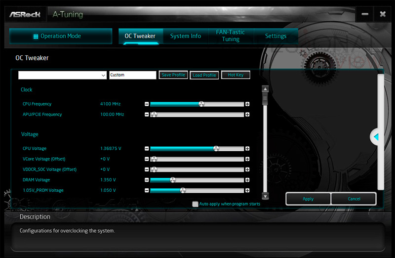 ASRock X470 Taichi software