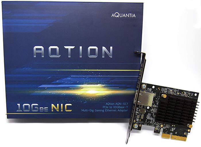 Aquantia AQtion AQN-107, una tarjeta de red 10 GbE para videojuegos