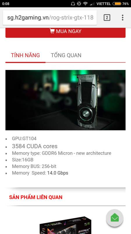 Asus ROG Strix GeForce GTX 1180