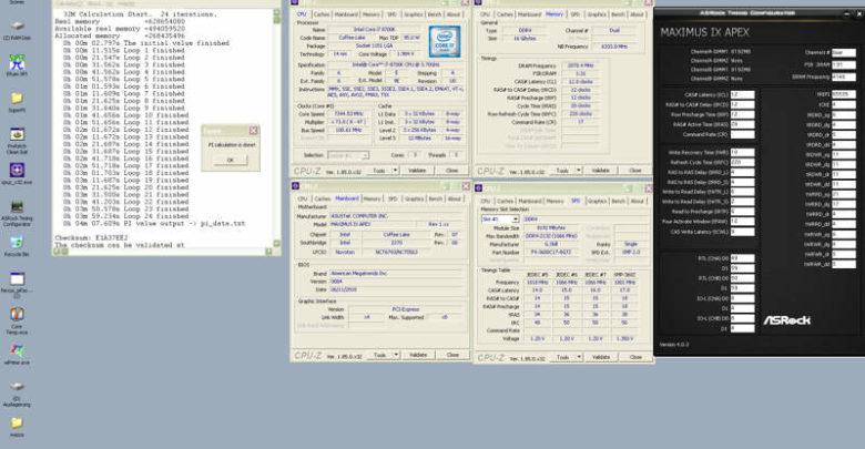 Photo of Dancop pone el Core i7-8700K a 7344 MHz con una Asus ROG Maximus IX Apex (Z270)