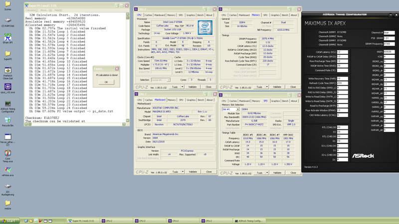 Core i7-8700K alcanza 7344 MHz con Asus ROG Maximus IX Apex