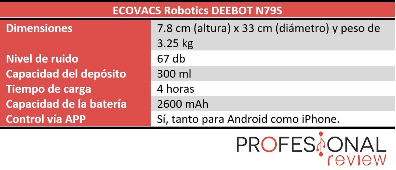 ECOVACS Robotics DEEBOT N79S características