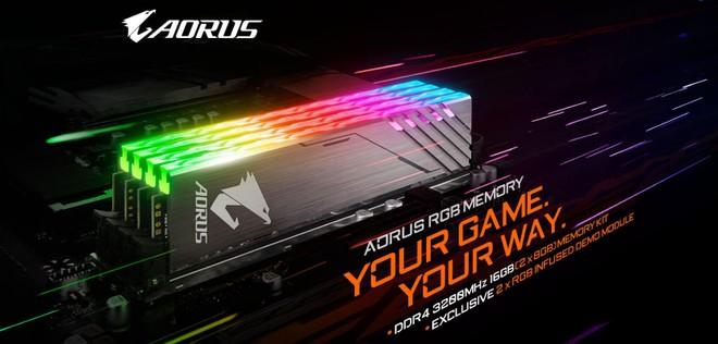 Gigabyte Aorus RGB, nuevas memorias con iluminación y módulos falsos