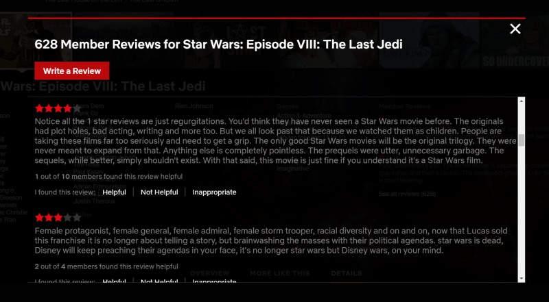 Netflix pone fin a los comentarios de los usuarios
