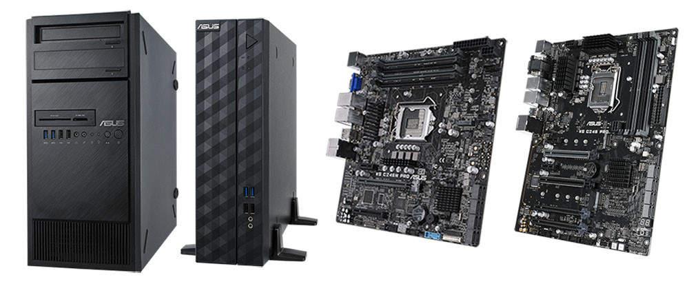 Nuevas estaciones de trabajo Asus E500 G5 y E500 G5 SFF basadas en Intel Mehlow