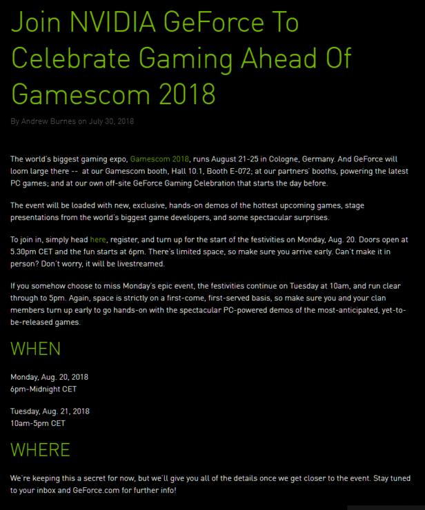 """Las Nvidia GeForce GTX 11 ya podrían tener fecha de presentación"""""""