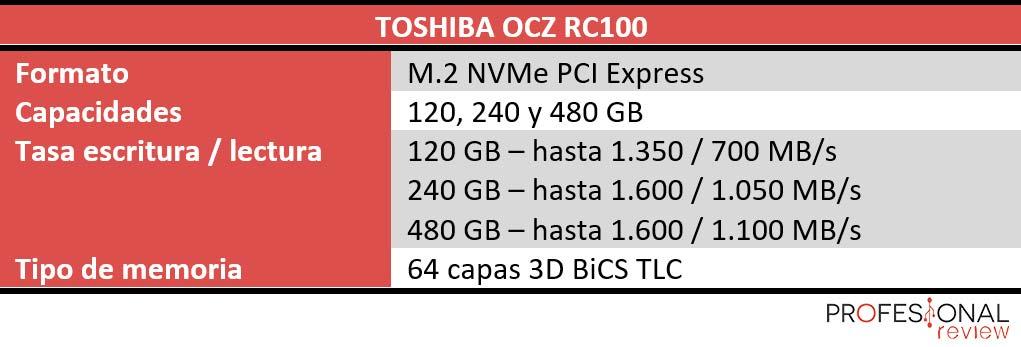 Toshiba OCZ RC100 caracteristicas