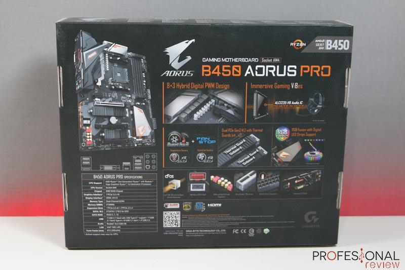 Aorus B450 Pro analisis