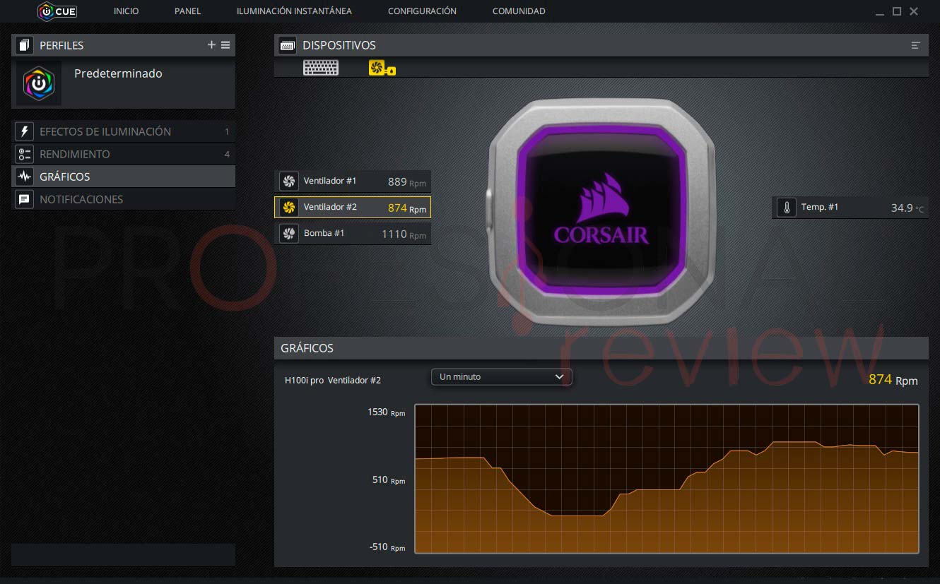 Corsair H100i Pro software