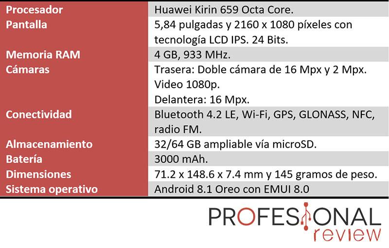 Huawei P20 Lite caracteristicas