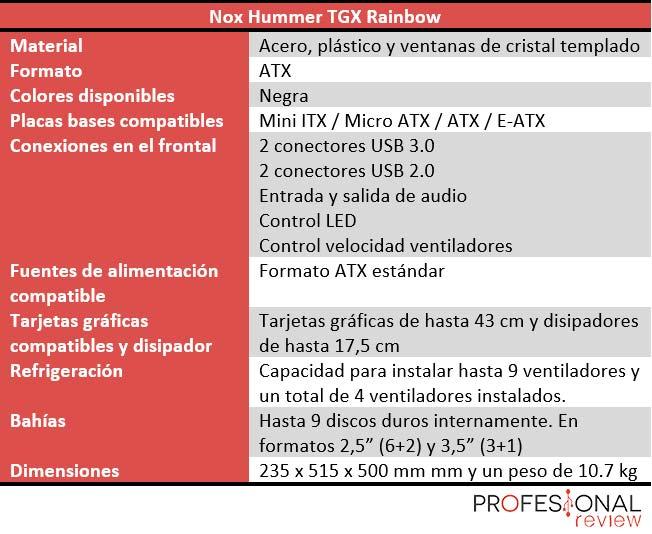 Nox Hummer TGX Rainbow características