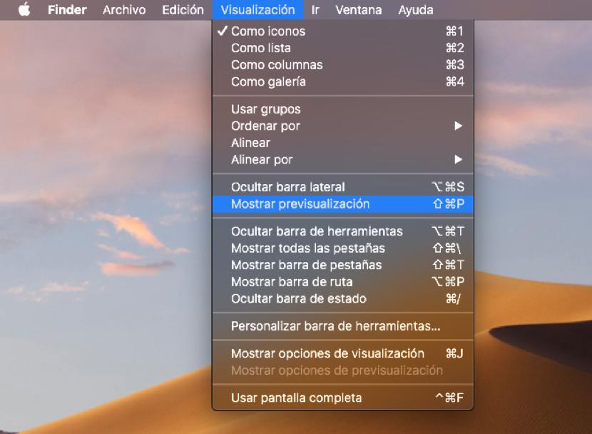 Cómo usar las acciones rápidas del Finder en macOS Mojave