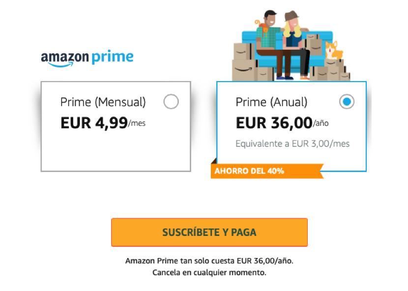SUBE EL PRECIO DE AMAZON PRIME