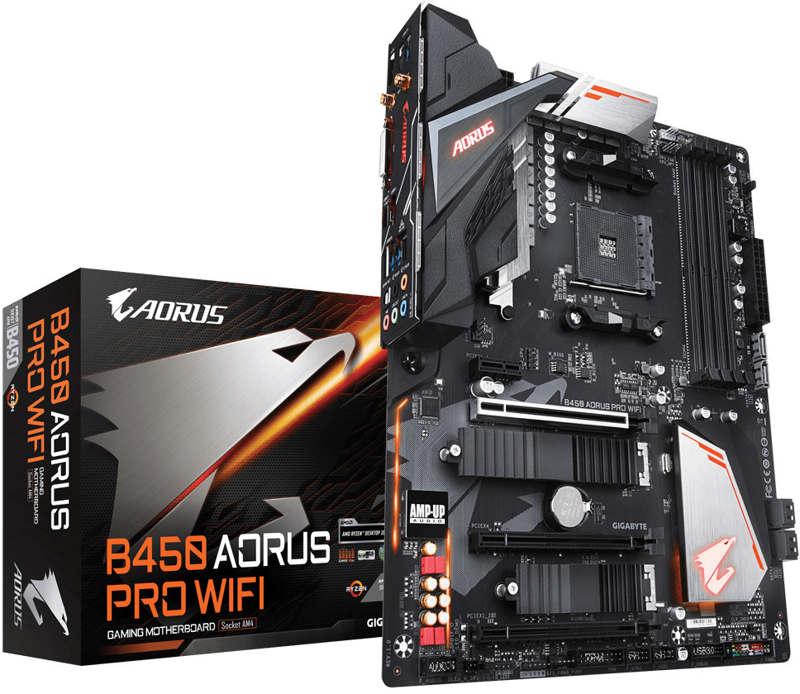 Anunciadas las nuevas placas base B450 AORUS