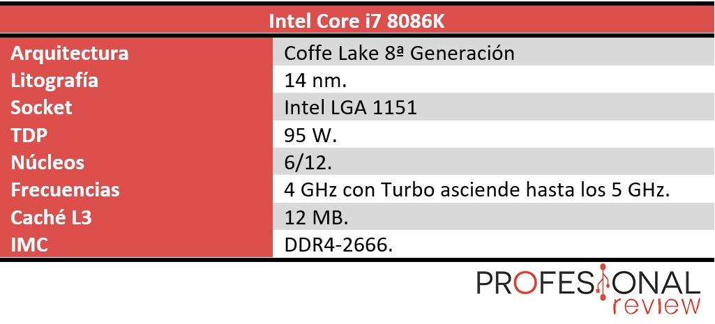 Intel Core i7-8086k características
