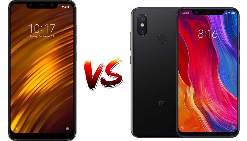 Pocophone F1 VS Xiaomi Mi 8