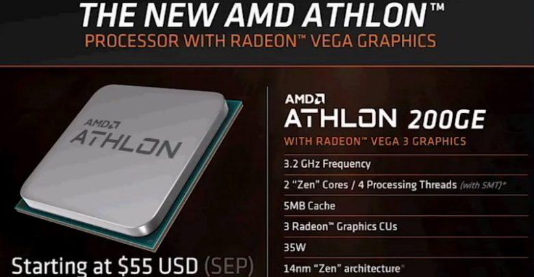 Photo of AMD Athlon 200GE es solo el primero de una nueva familia de procesadores, no admitirán overclock