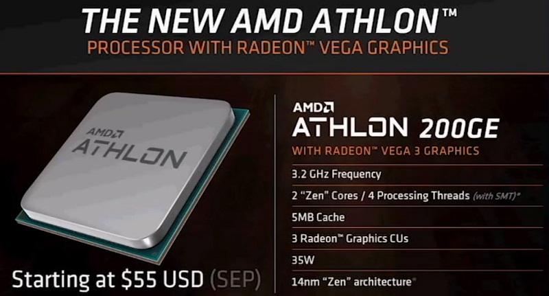 AMD Athlon 200GE no será el único miembro de una nueva familia