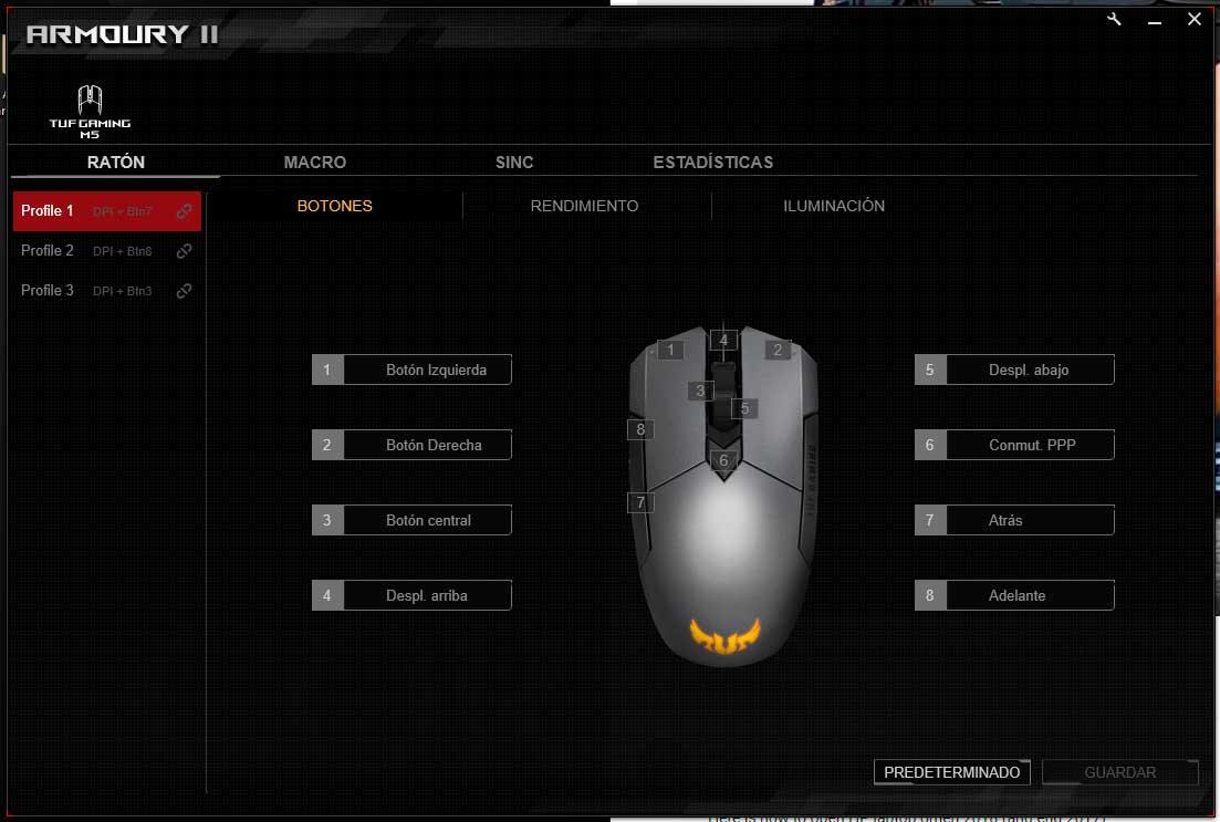 Asus TUF Gaming M5 software