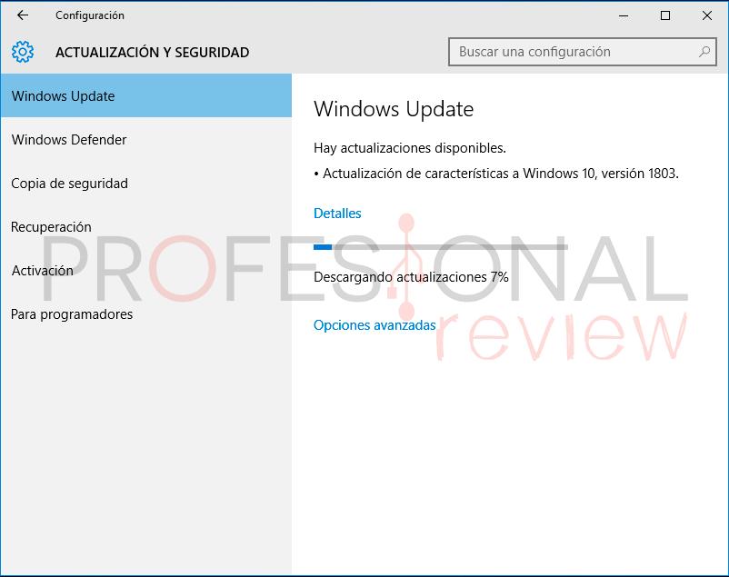 Actualizar Windows 10 paso a paso