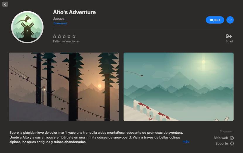 Alto's Adventure ya está disponible para Mac
