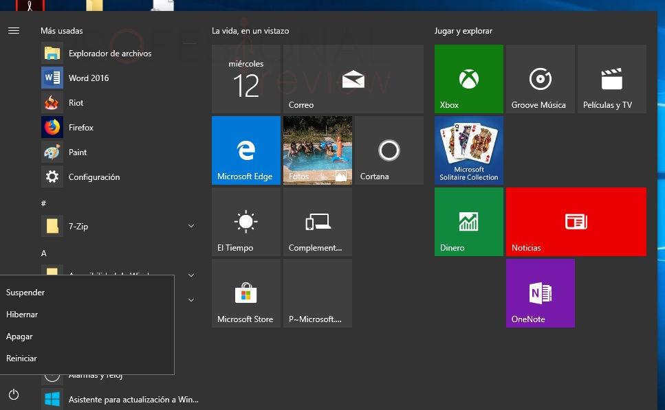 Como apagar, suspender o hibernar nuestro Windows 10