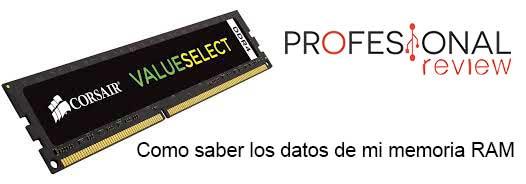 Como saber los datos de mi memoria RAM