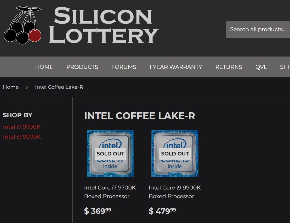 Core i9-9900K y Core i7-9700K podrían ser más baratos de lo esperado