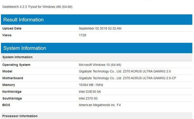 Photo of Intel Core i7-9700K se pasa por Geekbench mostrando su potencial