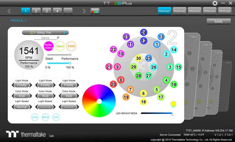Thermaltake Riing Trio 14 LED RGB Radiator Fan TT Premium Edition