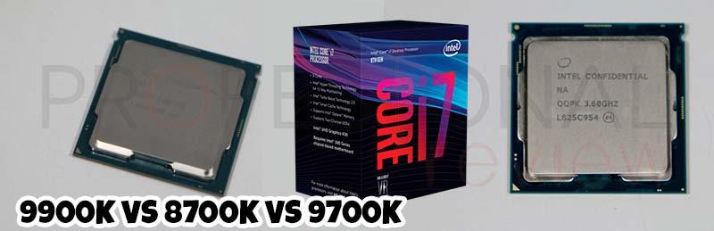 Core i9 9900K vs Core i7 9700K vs Core i7 8700K