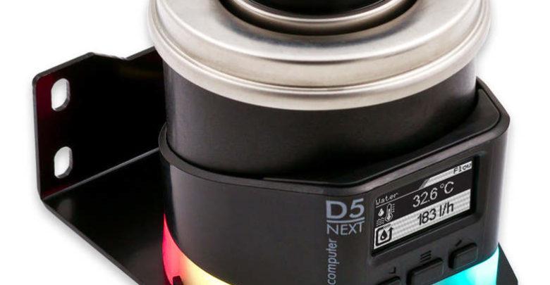 Photo of Aqua Computer D5 NEXT, un bloque de agua con controladora LED RGB y de ventilador